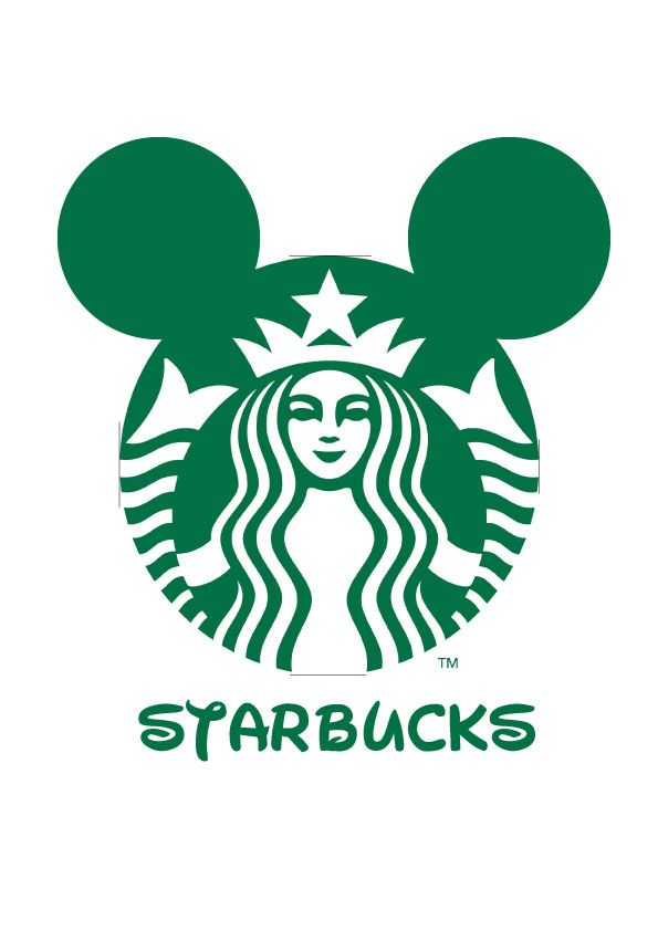 Logo Mash-up Disney Junior / Starbucks Marit