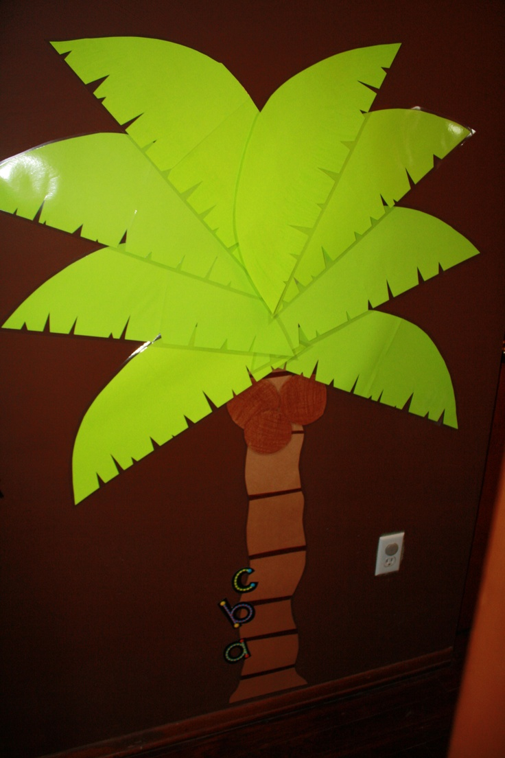 chica chica boom boom party!  We can play pin the letter on the coconut tree