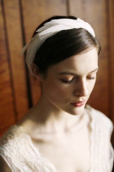 Inspire Wedding | Swan Lake | Feather headband - bride, bridal, hair inspiration, hairpiece, tiara