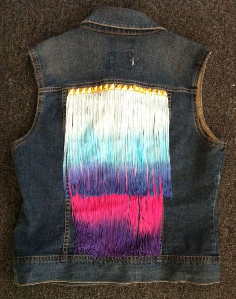 DIY: Stud and fringe denim vest! Go here for how-to: http://buzznet.com/~g93cf5c