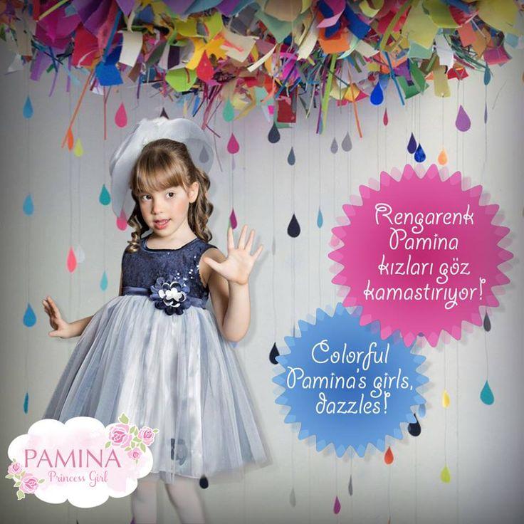 Pamina prensesleri her zaman harikalar!   Pamina princess girls are always wonderful...  #Fashionkids #Kidswear #Girl #Color #Style #Chic