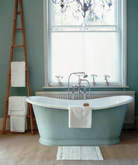 how to plan a bathroom window treatment