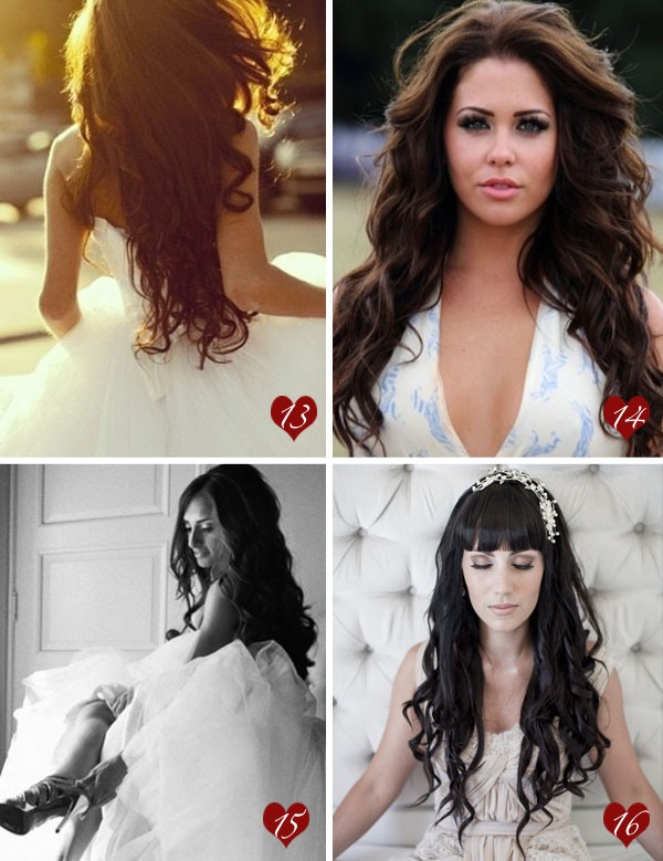 Great long hair down styles I want big curls with my long hair ;)