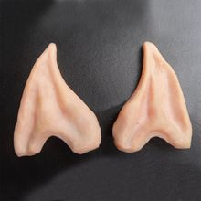 Halloween Party Cosplay Accessories Latex Soft Pointed Prosthetic Wizard Elf Fairy Hobbit Vulcan Spock Alien Costume Tips Ears(China (Mainland))