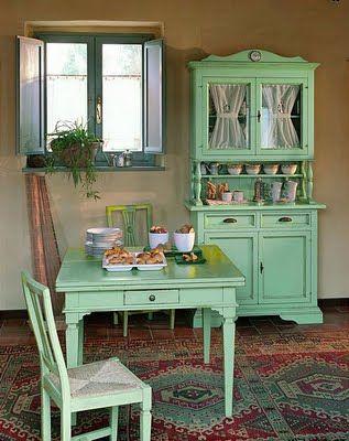 decorando con muebles campestres