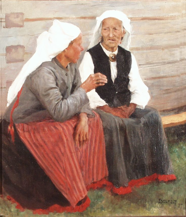 Albert Edelfelt: Old Women of Ruokolahti, 1887.