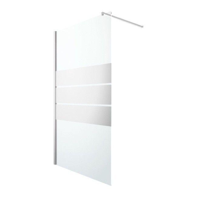 Kabina Prysznicowa Walk In Goodhome Beloya 120 Cm Chrom Szklo Lustrzane Scianki I Drzwiczki Shower Panels Walk In Shower Glass Shower Enclosures