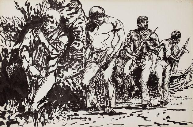 Palle Nielsen, Byen - Mennesker og Begivenheder, Katalog, Clausens Kunsthandel, 1977