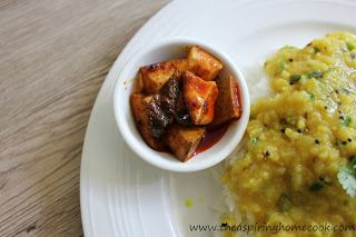 The Aspiring Home Cook: Spicy Kerala Mango Pickle - An Instant Mango Pickle