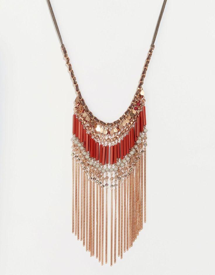Броское ожерелье с бахромой из кисточек Glamorous