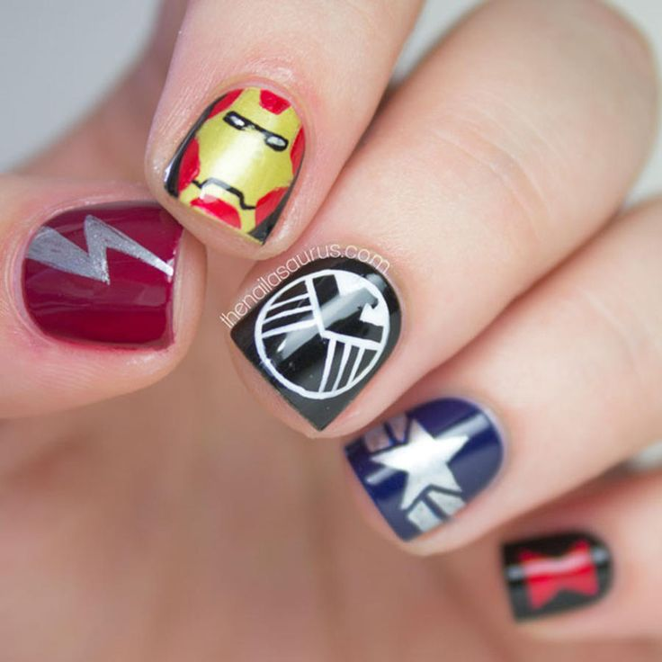 The 25 best professional nail designs ideas on pinterest 27 powerful nail designs for any comic nerd prinsesfo Choice Image