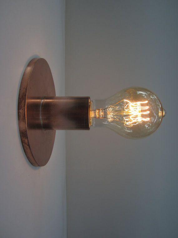 Minimalist Exposed Bulb Flush Mount Ceiling Light by KhalimaLights