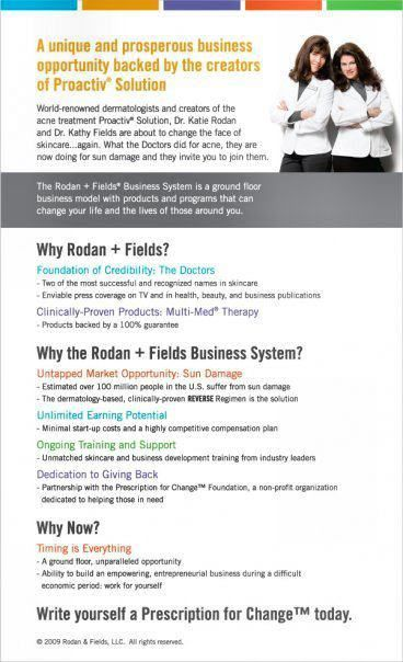 From the World Famous Doctors who created Proactiv ...   Rodan + Fields…