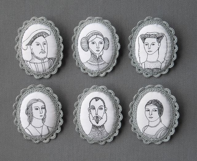 Portrait brooches