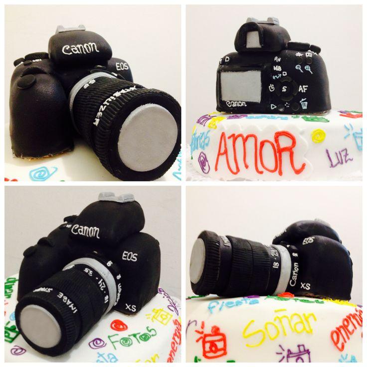#Torta de #Cámara de #Fotos #Canon #EOS #RebelXS Diseño de #Tortas3D