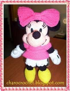 CHAROCROCHET PATRONES: MINNIE MOUSE