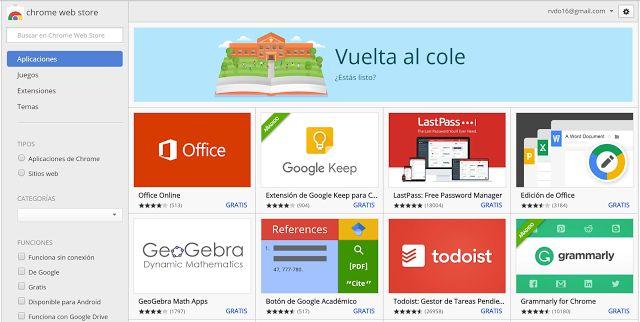 Crea y aprende con Laura: Vuelta al cole en Google Chrome
