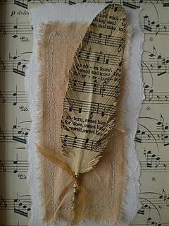 everything is better in bookprint. :)Ideas, Old Book Pages, Paper Feathers, Diy Tutorials, Sheet Music, Wedding Music, Music Sheet, Cards, Crafts
