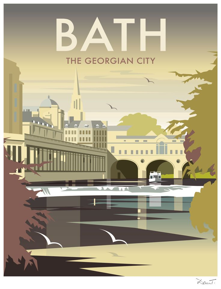 Bath (DT11) 'The Georgian City' by Dave Thompson http://www.thewhistlefish.com/product/dt11f-bath-framed-art-print-by-dave-thompson #bath #somerset