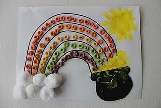 Fruit Loop Rainbows - sorting, colors, art