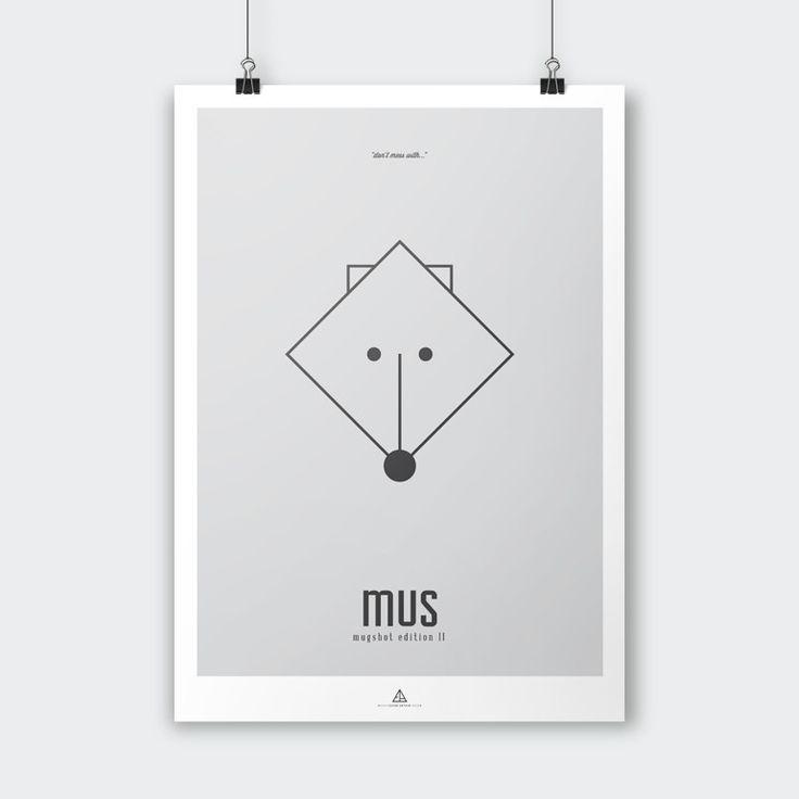 Ejvind Arthur – Mugshot Edition II – MUS - Tinga Tango #ejvindarthur#illustration#grafisk#dekoration