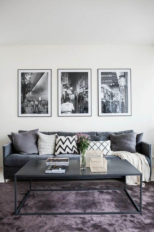 1000 idées sur le thème salon gris et blanc sur pinterest ...