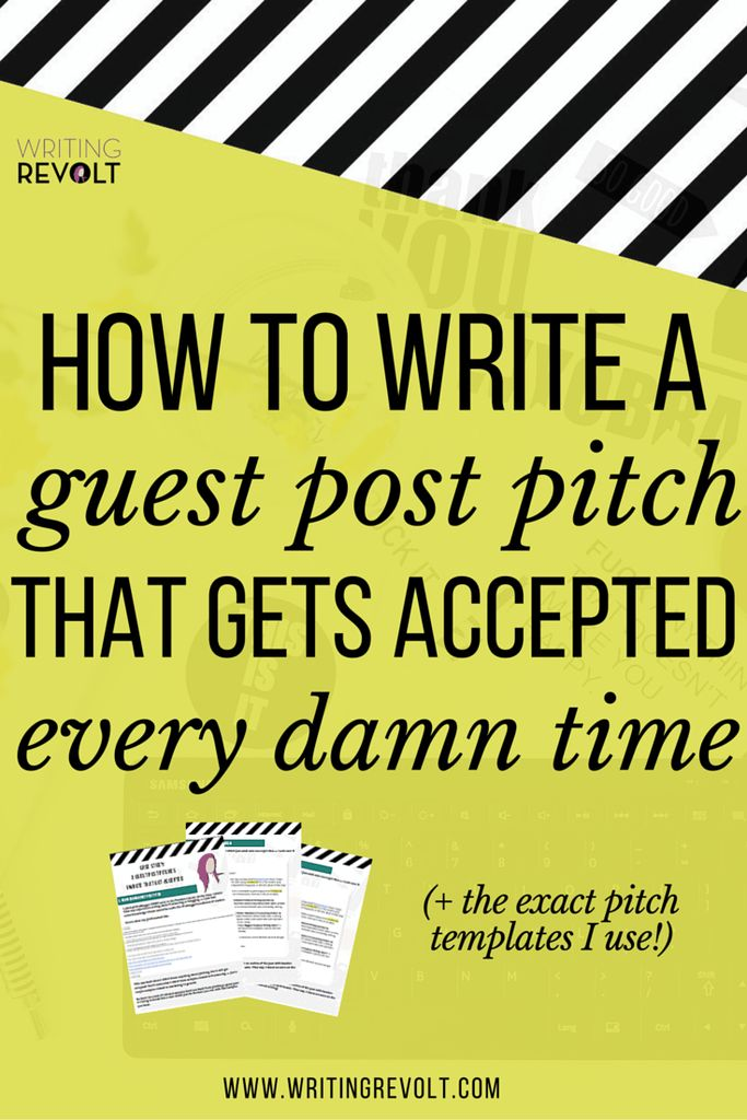 This 2500-word guide will walk you through everything you need to know to write a badass guest post pitch that gets accepted (+3 templates that WORK)!