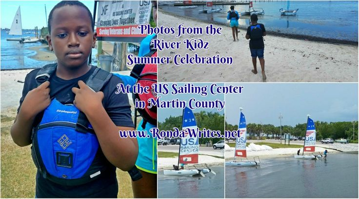 At the River Kidz Summer Celebration at the US Sailing Center Martin County. I wasn't expecting my son to want to sail, but he did it without me! Click for more pics!