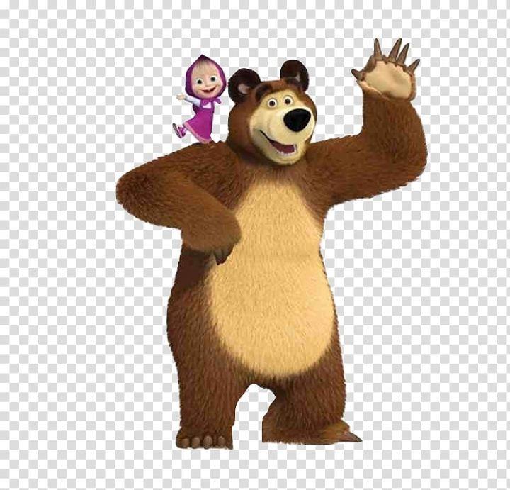 Masha Bear Party Birthday Bear Transparent Background Png Clipart Masha And The Bear Marsha And The Bear Animal Clipart