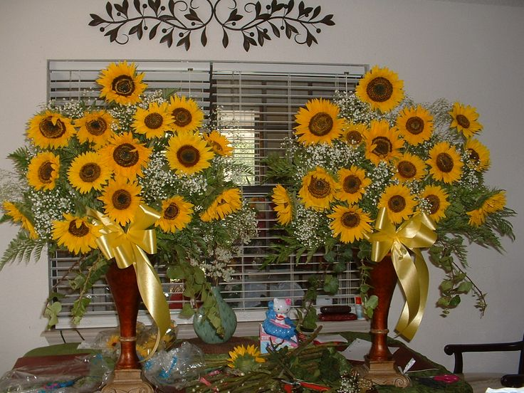 Sunflower Arrangements For Weddings Sunflower