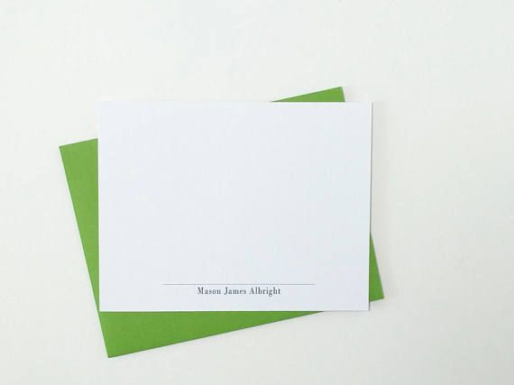 Mens Personalized Stationery Set Personalized Stationery for