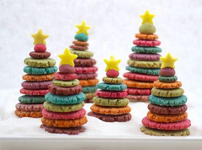 Super Easy 3D Christmas Tree Cookies