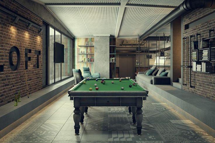 Rec Room / Sleiman Sbeih – nowoczesna STODOŁA   wnętrza & DESIGN   projekty…