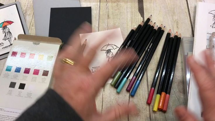 How to use Stampin Up's New Watercolor Pencils and Beautiful You set