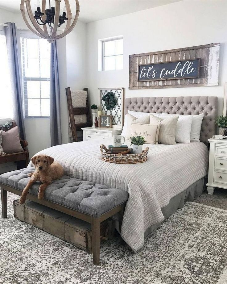 35 Fabulous Farmhouse Style Bedroom Decoration Ideas