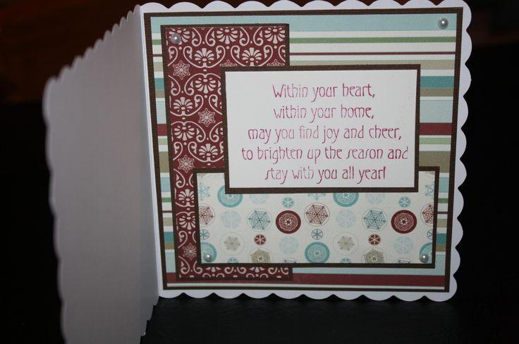 Sugar Nellie - Winter Wonderland - inside of card