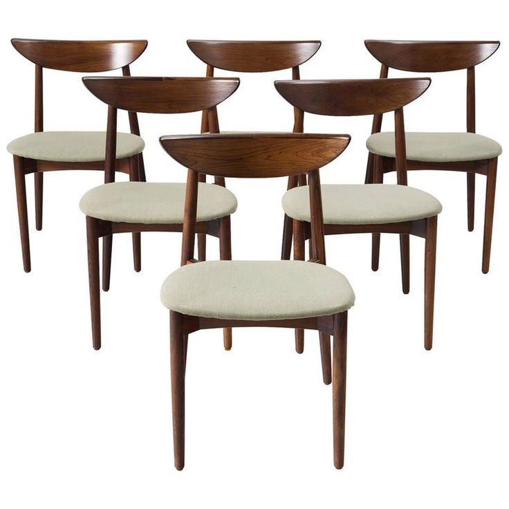 Harry Østergaard Set of Six Rosewood Dining Chairs | 1stdibs.com