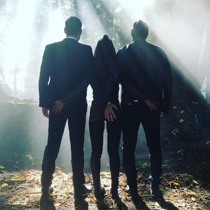 Lucifer ~ Season 2: Lucifer, Maze & Amenadiel:  leslieannbrandt - Monday. Be. There.