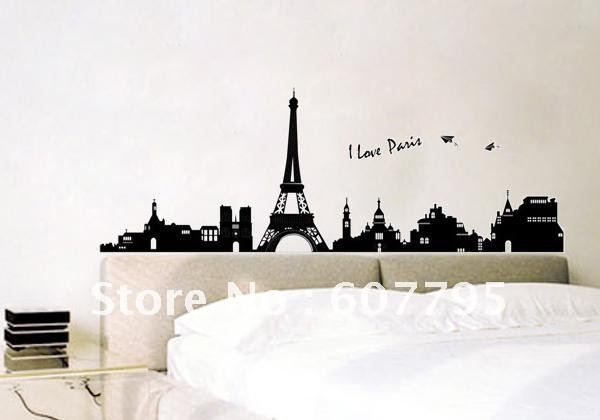 Room Decor Images Shipping 60x90cm Removable Paris Eiffel Tower
