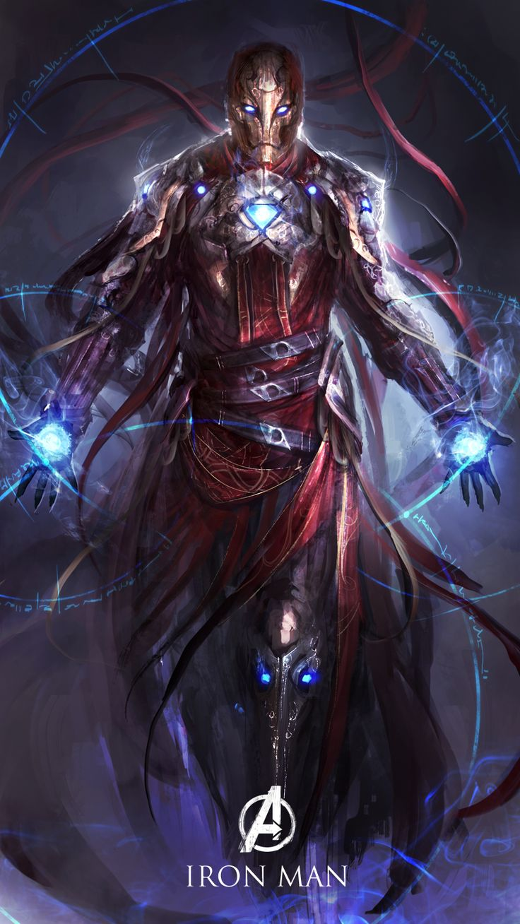 Iron Man, The sorcerer of snark by theDURRRRIAN cyborg robot golem wizard warlock armor clothes clothing fashion player character npc | Create your own roleplaying game material w/ RPG Bard: www.rpgbard.com | Writing inspiration for Dungeons and Dragons DND D&D Pathfinder PFRPG Warhammer 40k Star Wars Shadowrun Call of Cthulhu Lord of the Rings LoTR + d20 fantasy science fiction scifi horror design | Not Trusty Sword art: click artwork for source