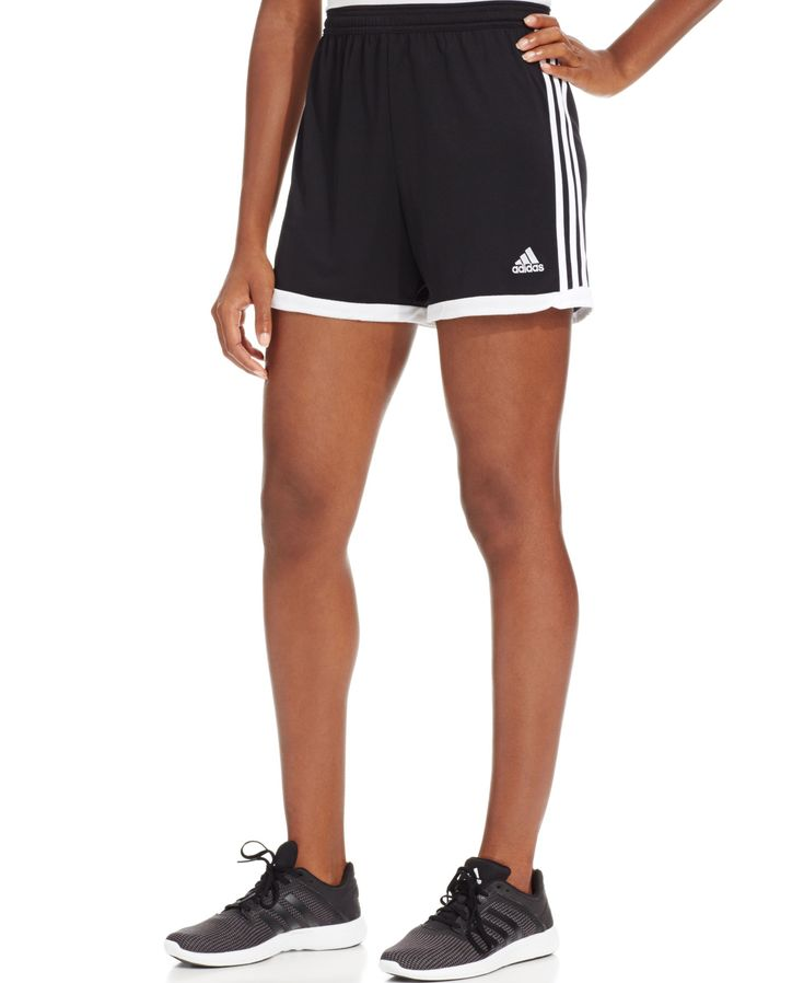 Adidas takes classic soccer shorts to the next level with ClimaCool fabric that keeps you dry and comfortable. | Polyester | Machine washable | Imported | High rise: waistband sits at or above natural