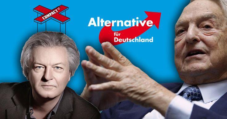 Im Vorfeld des Bundesparteitags lanciert das COMPACT-Magazin und sein Chefredakteur Jürgen Elsässer gemeinsam mit George Soros Spaltungsgerüchte über die AfD.