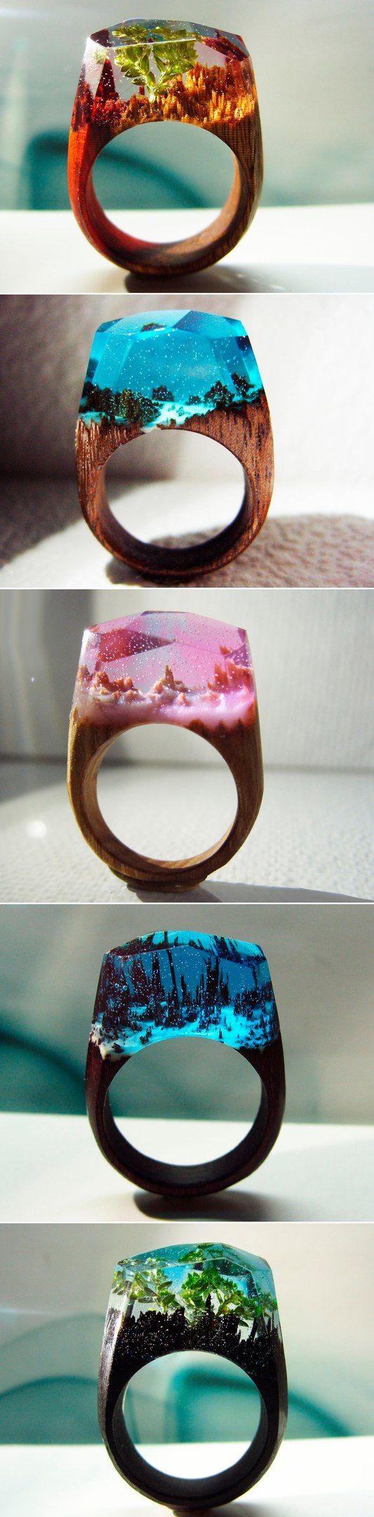 Wooden Rings   Деревянные кольца