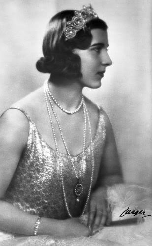 Queen Ingrid of Denmark wearing the Cartier Khedive tiara