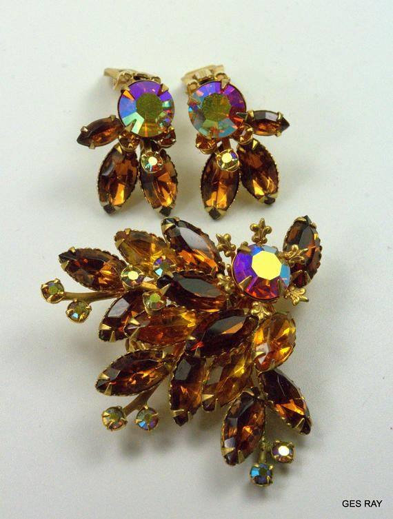 Beaujewels Rhinestone Earrings Amber Beaujewels Vintage Rhinestone Earrings Beaujewels Statement Earrings Glass Navette Earrings Beau Jewels