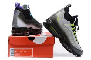 0ad9f31e11 Nike Air Max 95 Winter Sneakerboot Black Volt Orange 806809 078 Men's Snow  Boots Sneakers