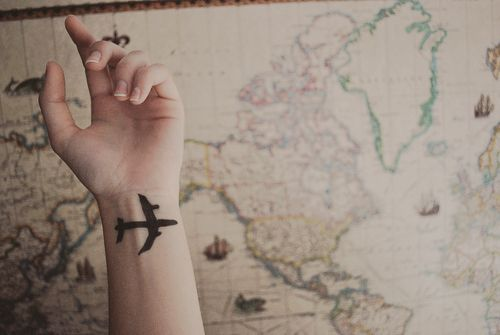 Great travel tattoo idea. So pretty.