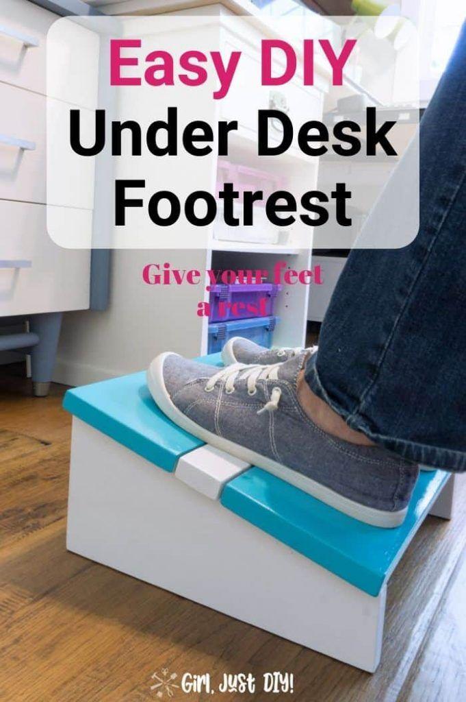 Easy Wooden Diy Footrest Wooden Diy Foot Rest Diy Home Crafts