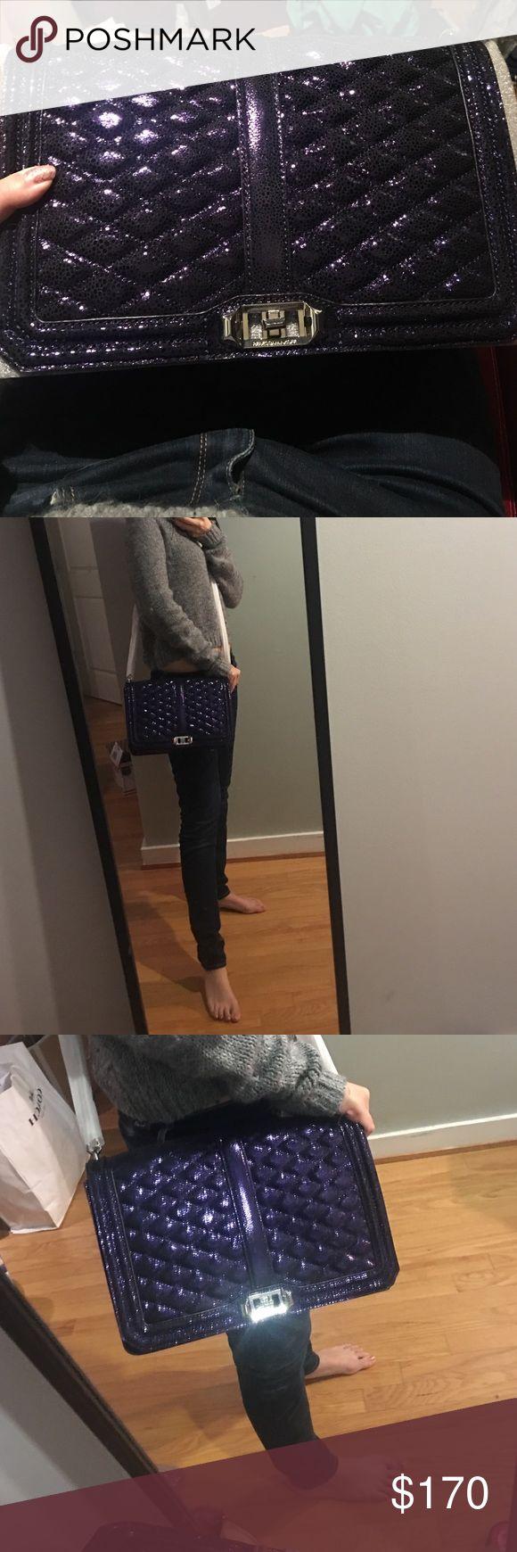 Rebecca minkoff love large crossbody Purple skin skin patterned. Good deal from sample sale Rebecca Minkoff Bags Crossbody Bags