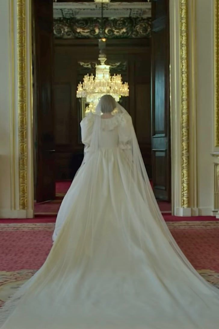 Here S Princess Diana S Wedding Dress In The Crown And It Looks Exceptionally Accurate In 2020 Diana Wedding Dress Princess Diana Wedding Princess Diana Wedding Dress